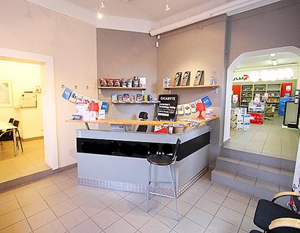 Bild av butiksdelen.