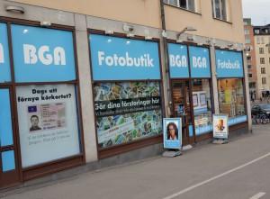 Butiksfasaden på Södermalm